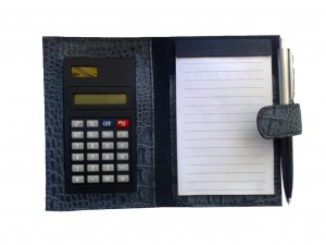Блокнот с калькулятором
