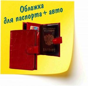 обложка для паспорта+авто